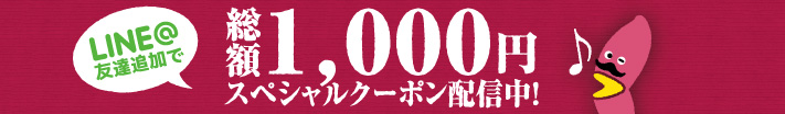 総額1,000円スペシャルクーポン配信中!